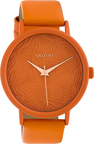 ederband 42 MM Colours of Summer Palmen Zifferblatt Unicolor Orange C10165 ()