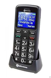 Amplicom PowerTel M6200 Handy (micro-USB) schwarz