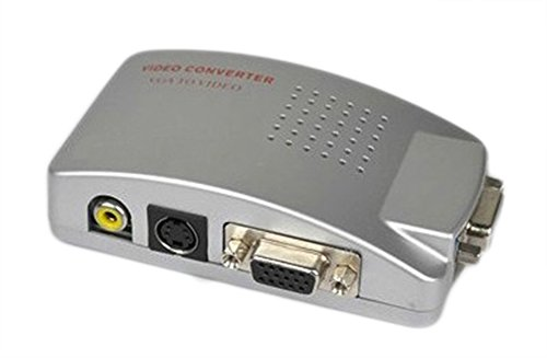 SaySure - PC To TV Converter Box (VGA To RCA / S,Video) (Converter Video 8mm)