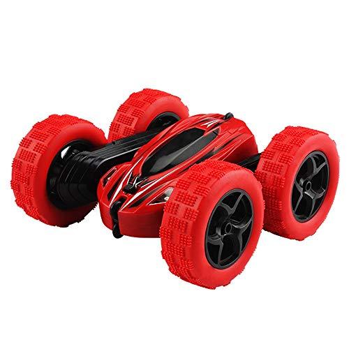 MEILA Drahtlose Fernbedienung Auto SUV Toy Boy Lade Dump Truck Stunt Rolling Kind 3-6 Jahre alt Flip Stunt (Color : Red) - Truck Red Dump