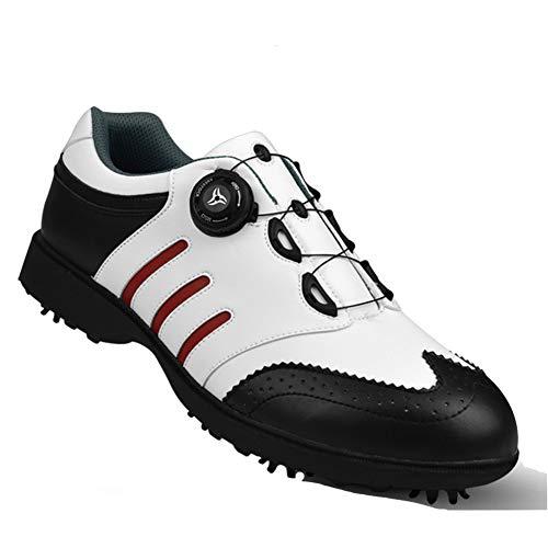 SHENMINJ Uomini Scarpe da Golf da Uomo di Alta qualità, Scarpe da Uomo Primavera e Autunno Traspiranti Scarpe da Allenamento Professionali,40