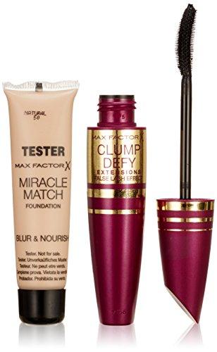 Max Factor Clump Defy Extensions Mascara black plus Gratisprobe Miracle Match Foundation, 1er Pack (1 x 2 Stück)