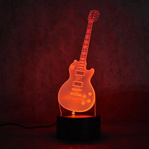 achtlicht Illusion Lampe 7Farbe ändern LED Touch USB Tisch Geschenk Kinder Spielzeug Decor Dekorationen Weihnachten Geschenk zum Valentinstag (Charlie Brown Halloween-musik)