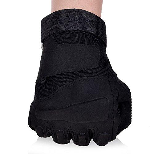 Vbiger Outdoor Sport Fahrradhandschuhe Mountainbike Handschuhe Motorradhandschuhe (Schwarz, XL) - 4