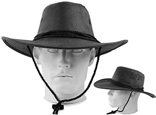 Seiler24 Luxus Old Ranger Western Sheriff Cowboy Hut in Klassischen Schwarz