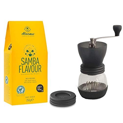 Hario Skerton Kaffeemühle + Moema Kaffee 250g im Set