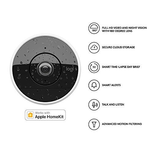 logitech circle 2 sicherheitskamera kabelgebundene f r den innen und au enbereich. Black Bedroom Furniture Sets. Home Design Ideas