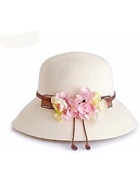 LVLIDAN Sombrero para el sol del verano Dama SolAnti-sol Fishermanstrawhat rosa