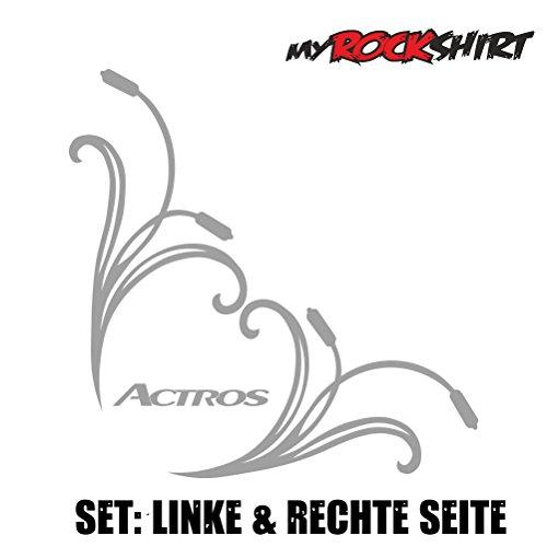 myrockshirt Actros Seitenscheibe Scheibe 27x27cm LKW Truck Trucker Aufkleber Anhänger Sticker `+ Bonus Testaufkleber Estrellina-Glückstern ®, gedruckte Montageanleitung, Ve