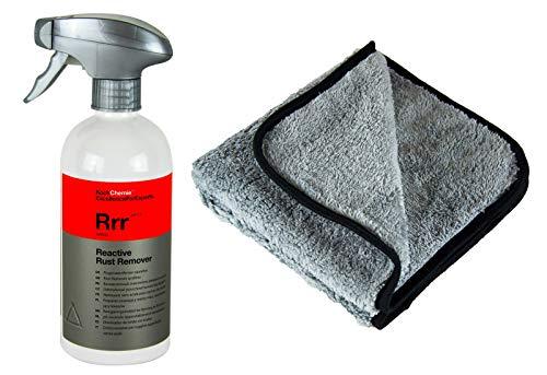 PARTS4CARE KOCH Chemie RRR Reactive Rust Remover Flugrostentferner 500 ml & P4C Tuch