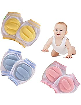 Hillento atmungsaktive elastische Unisex Säugling Kleinkind Baby Knieschoner Knie Ellenbogen Pads kriechen Sicherheit...