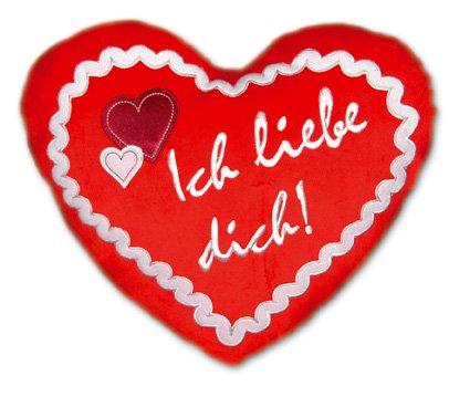 Herzkissen - Ich liebe Dich  Lebkuchen Kissen Herz - Valentinstag Geschenk