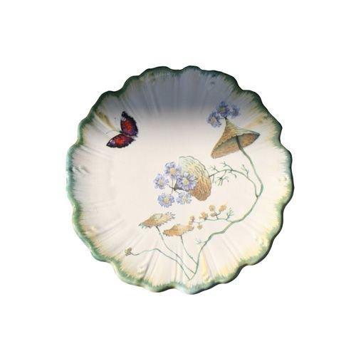 Assiette à pain ronde Folies botaniques faïence - lot de 4 ~ Faïencerie de Niderviller
