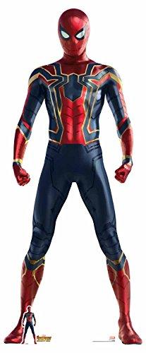 (Star Einbauöffnungen 71Offizielles Marvel Charakter aus Karton, Lebensgröße Eisen Spider (Avengers: Infinity Krieg) Spider-Man/Peter Parker, mehrfarbig)