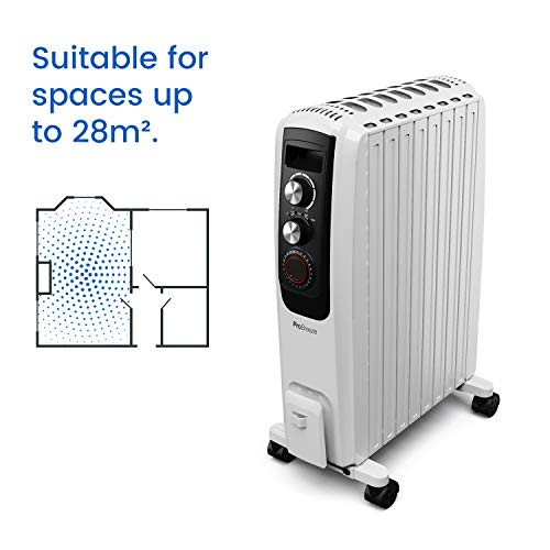 41 NOYGNS9L. SS500  - Pro Breeze Oil Filled Radiator 2000W Advanced Chimney Circulation – Portable Electric Heater with Built-in Timer, 3 Heat Settings, Thermostat and Safety Cut-Off