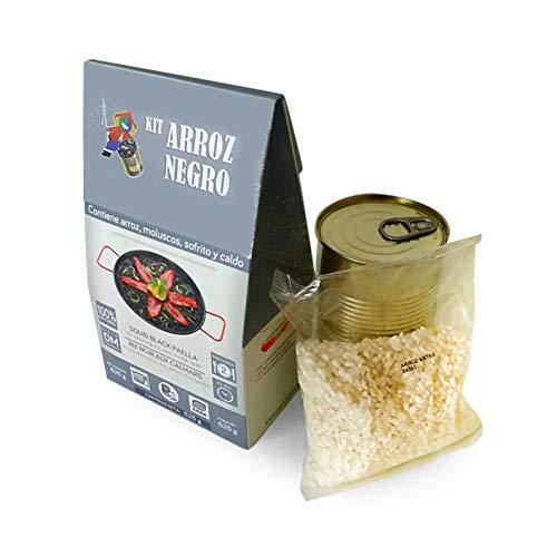 Paella-kit Schwarze Paella mit Calamari (Nachfüllpackung), Olivenöl, Reis, Gewürzmischung 625g