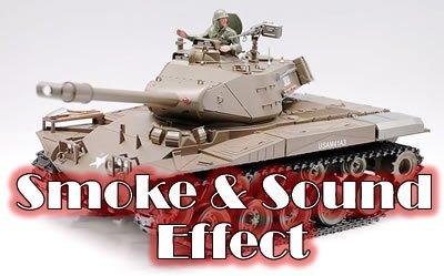Smoking 1:16 RC US M41A3 Walker Bulldog Airsoft R/C Mild Tank with Engine Sound and Machine Gun Sound