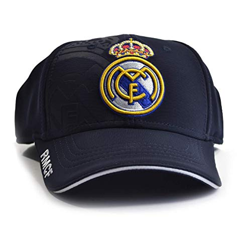 Real Madrid Baseballkappe (Einheitsgröße) (Blau) (Real Madrid Stirnband)