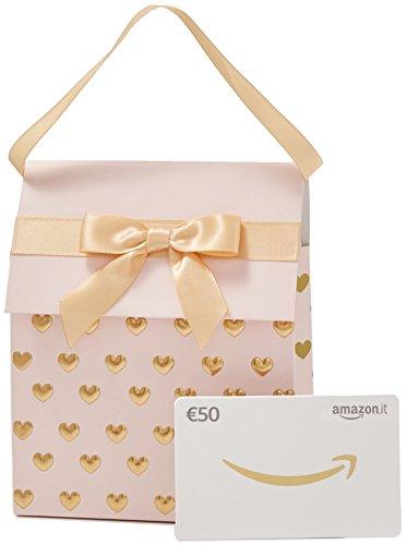 Buono regalo amazon.it - €50 (sacchetto rosa-oro)