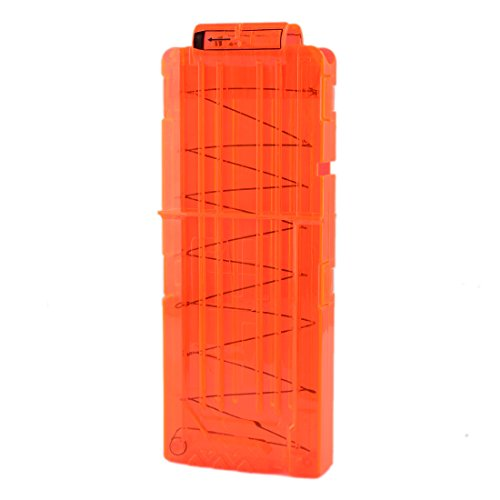 PHYNEDI Soft Bullet Magazin Soft Bullet Clip für 12 Darts für Nerf N-Strike Elite Serie - Transparente Orange 1pcs