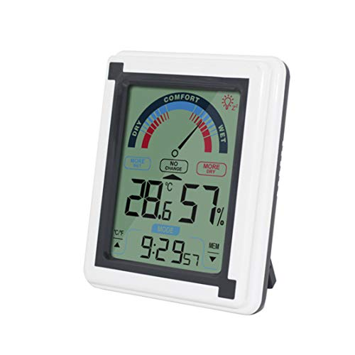 Happy Event Innen Thermometer Feuchtigkeit Monitor | Touchscreen Hintergrundbeleuchtung Timer Digitalanzeige | Indoor Thermometer Humidity Monitor Touchscreen Backlight Timer Digital Display