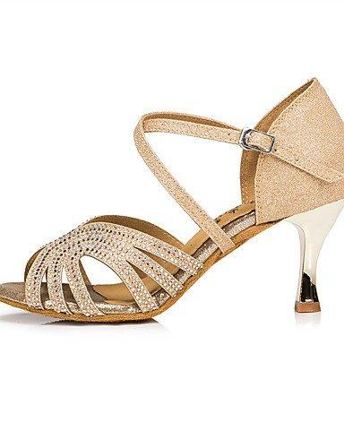 ShangYi Chaussures de danse(Bleu / Or) -Personnalisables-Talon Aiguille-Paillette-Latine / Moderne Blue