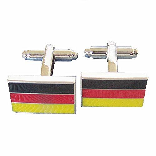 korpikus®' Deutsche Flagge ' Theme Edelstahl-Manschettenknöpfe In Kostenlose Geschenktüte (Flag Kostenlos Mens)