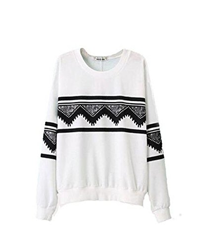 Hqclothingbox -  Felpa  - Donna White Large