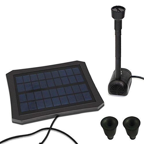 caracteristicas:1. Está diseñado para el kit de bomba de fuente, cascada y fuente solar.2. Los paneles solares pueden funcionar automáticamente y no necesitan batería ni electricidad, lo que aumenta la potencia del panel solar. Puede almacenar el ...