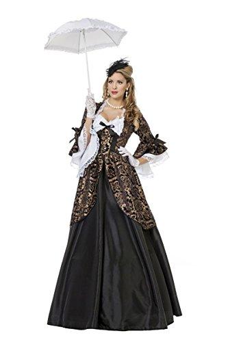 Marquise Kostüm Damenkostüme Damen Karneval Fasching Kleid Schwarz Braun Weiß