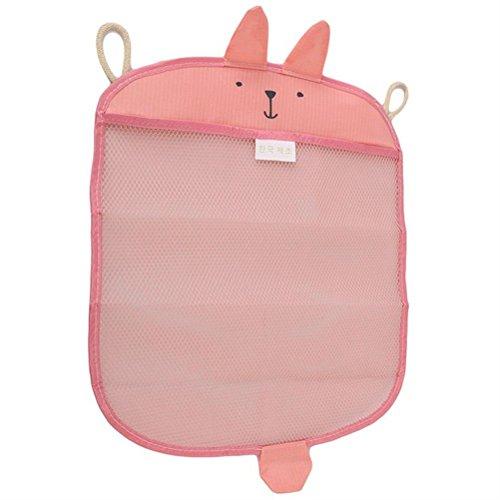Pizies Baby bath toy storage bags,Bathroom Hanging Organizer(Pink Rubbit)
