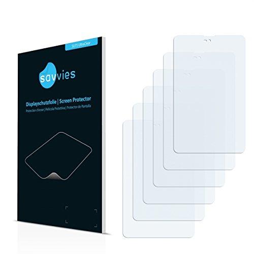 6x Savvies SU75 UltraClear Displayschutz Schutzfolie für Xoro TelePAD 735Q (ultraklar, mühelosanzubringen)