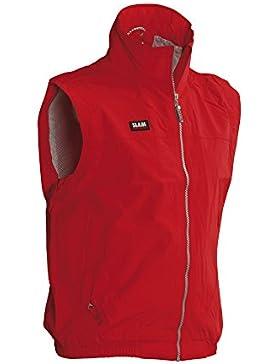 Slam - Chaleco para navegación, resistente al viento, 100% nailon, XL, Rojo