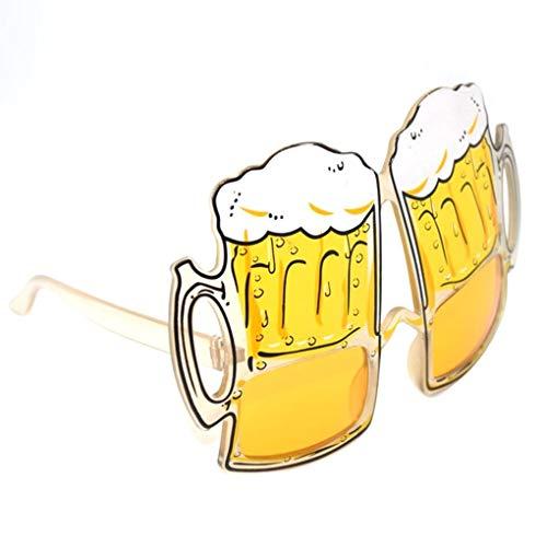 Junecat 2ST Bier Goggle Brille Mode Kunststoff-Neuheit-Partei-Augen-Gläser Lustige Biergläser