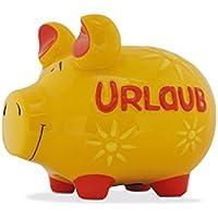 KCG Spardose Schwein Urlaub gelb mittel