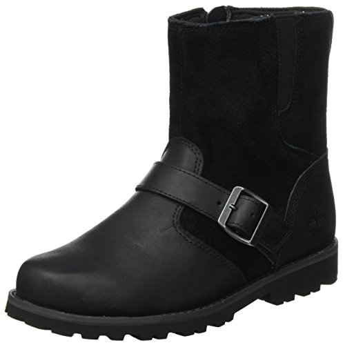 Timberland Kids Asphalt Trail Mid With Buckle Chukka Boots, Schwarz (Black), 38 EU (Buckle Boot Suede)