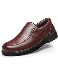 6c334f6170f8 XI-GUA Herren Business Schuhe Leder Freizeitschuhe niedrig um städtische  Rutschfeste Arbeitsschuhe zu helfen