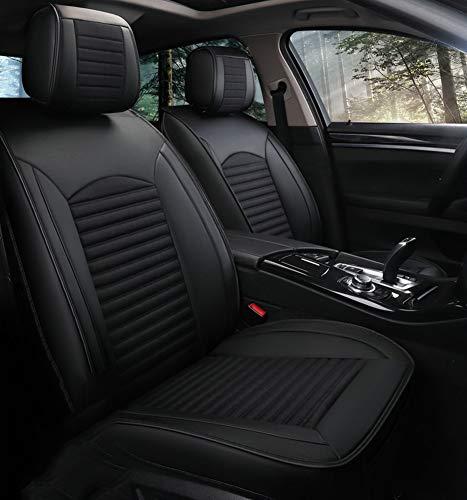 YRRC Universale (anteriore e posteriore) Coprisedili per auto in lino per Mini Tutti i modelli Cooper Countryman Cooper Paceman Car Styling Accessori auto,Black