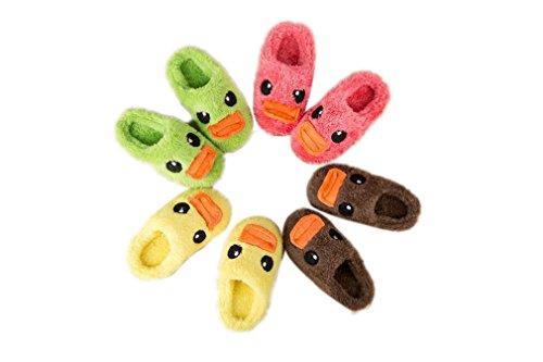Kauftree Baby Kinder Plüsch Hausschuhe Pantoffeln Slipper Haus Indoor Winter Warm Junge Mädchen Cartoon Tier Ente Grün