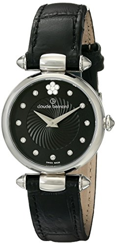 Claude Bernard Women's 20501 3 NPN2 Dress Code Analog Display Swiss Quartz Black Watch