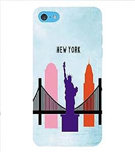 HiFi Designer Phone Back Case Cover Apple iPhone 6 Plus :: Apple iPhone 6+ ( New York Bridge Statue Of Liberty Logo )