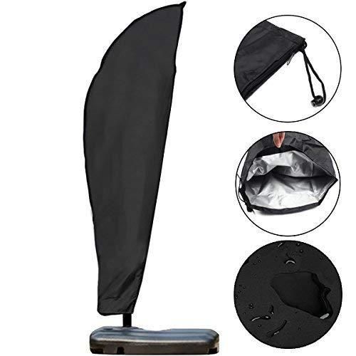 GEMITTO Housse de Protection Diamètre de Parasol 2-4 M, Premium pour Parasol Déporté 210D Oxford 280x46x81x30cm...