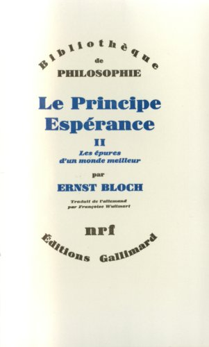 Le principe espérance tome 2