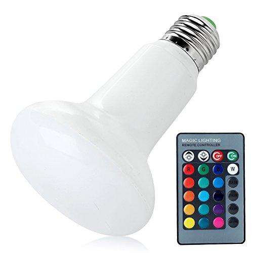 Especificaciones Material: Plástico. Artículo color: blanco Tamaño: 110mm x 65mm de diámetro Tipo de base: E27 Color de la Luz: RGB (16colores) Potencia de salida: 3W Voltaje de Entrada: 220V Ángulo de haz de luz: 360grados Temperatura de Traba...