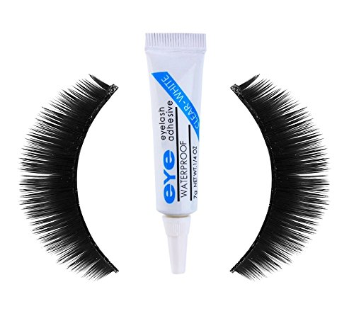 Kelley Thick Hair Waterproof Eye Lashes Mink Collection With Eyelash Clear White Glue