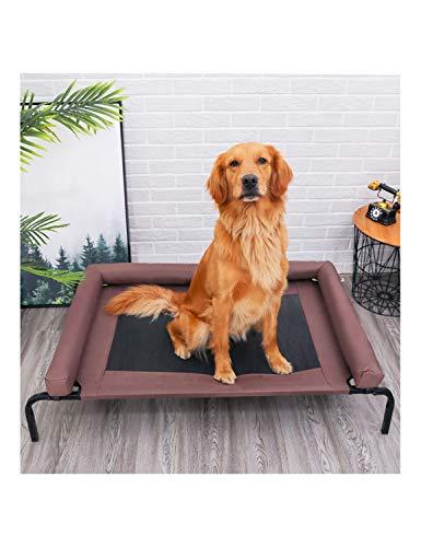 LLluckyDT Hundebett, isolierter Boden, robust und langlebig, mit eingezäunten Kissen, schützt die Wirbelsäule, beruhigt Muskeln, großes Hundebett (Size : M) -