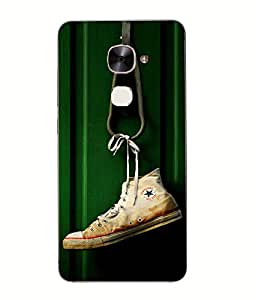 Snazzy Shoe Printed Green Hard Back Cover For Letv Le Eco Le 2