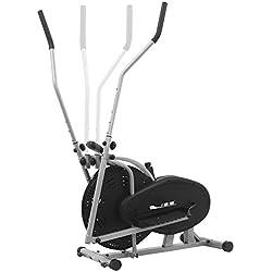 ISE Bicicleta Elíptica Professional de Ejercicio, Bicicleta Estática de Gimnasio con Pantalla, Resistencia Ajustable, Máquina Elíptica de Fitness para Casa con Sensor de Pulso, Máx. 100 kg, SY-9000