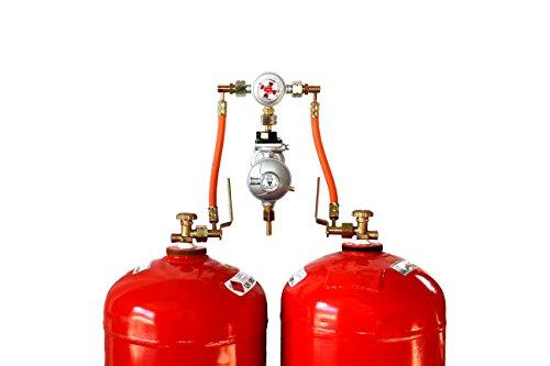 Zweiflaschenanlage für zwei 33kg Gasflaschen mit automatischer Umschaltung Flüssiggas Propangas -