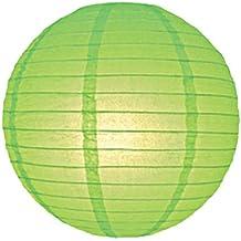 6712-ll 30cm Color Verde Linterna de papel Pantalla para lámpara de techo